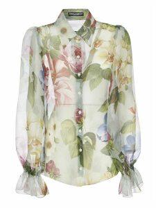 Dolce & Gabbana Floral Print Lace Shirt