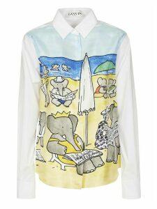 Lanvin Elephant Printed Shirt