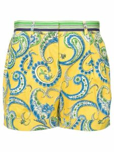 Philosophy Di Lorenzo Serafini paisley shorts - Yellow