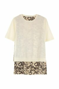 Stella McCartney Asymmetric Top With Printed Panel