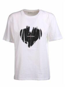 Saint Laurent Heart Logo Print T-shirt