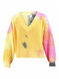 MSGM Tie-dye Print Sweater