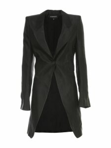 Ann Demeulemeester Dimness Polished Coat Single Breasted Linen Cupro