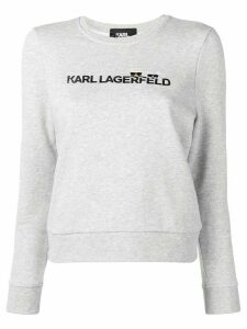 Karl Lagerfeld embroidered logo sweatshirt - Grey
