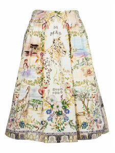 Etro Floral Print Flared Skirt