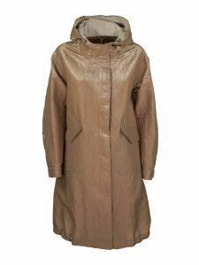 Brunello Cucinelli Outerwear Jacket Shiny Tricotine Outerwear Jacket With Monili