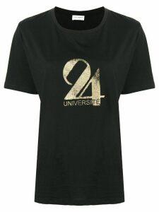 Saint Laurent Université-print T-shirt - Black