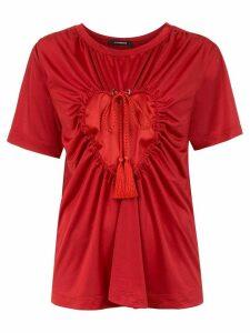 À La Garçonne Colissé Coração blouse - Red