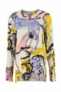Stella McCartney Louisa Printed Crêpe Blouse
