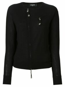 Dsquared2 zip accent pullover - Black