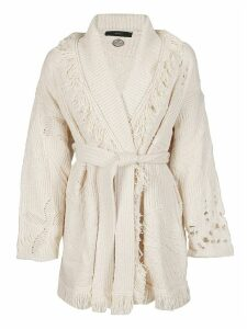 Alanui Cream Cotton Cardigan