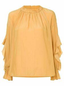 Frei Ea gathered neck blouse - Yellow