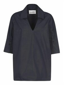 Jil Sander Oversized V-neck Top