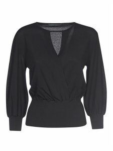 Alberta Ferretti V-neck Ribbed Sweater