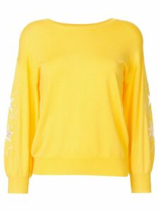 Guild Prime star-embroidered ribbed-trim jumper - Yellow