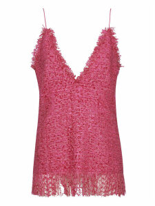 MSGM Fringed Woven Top