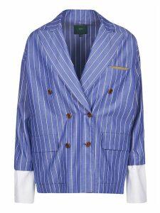 Jejia Double-breasted Striped Blazer
