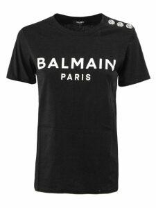 Balmain Black And White Cotton T-shirt