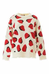R13 Heart Intarsia Sweater