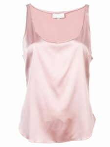 Fleur Du Mal scoop neck cami top - PINK