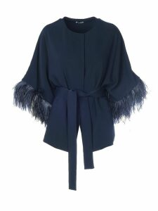 Parosh Panters Feathers On Sleeves