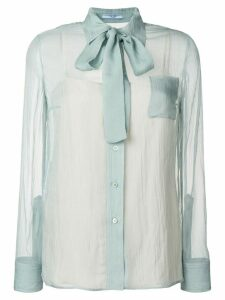 Prada bow tie shirt - Blue