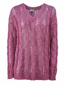 Brunello Cucinelli Dazzling Cable & Net Sweater