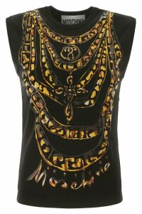 Moschino Chains Print Knit Top
