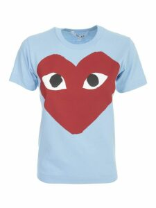 Comme des Garçons Play Play T-shirt W/big Heart Tone On Tone