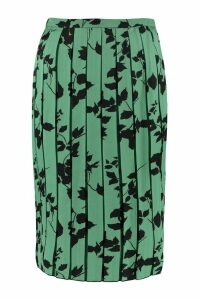 Plan C Printed Pleated Skirt