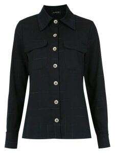 Olympiah Salineira check shirt - Blue