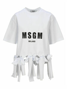 Msgm Knotted Hem T-shirt