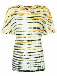 Proenza Schouler Tie Dye Short Sleeve T-Shirt - Yellow