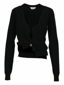 Bottega Veneta Twisted Cropped Cardigan