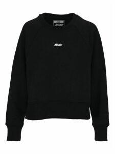 Msgm Logo Cropped Sweatshirt