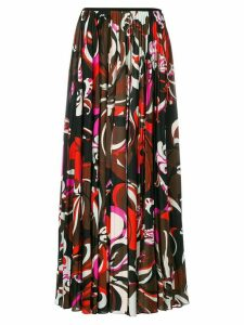 Emilio Pucci pleated printed skirt - Multicolour