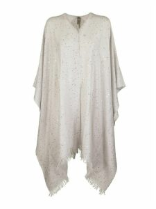 Brunello Cucinelli Poncho In Cashmere And Silk