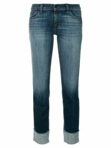 J Brand stonewashed cropped jeans - Blue