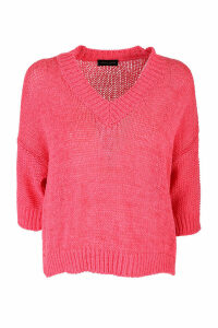 Roberto Collina V-neck sweater 3/4 sleeves