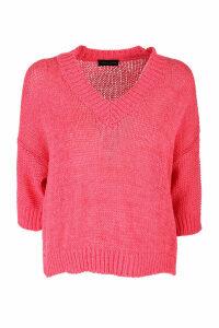 Roberto Collina V-neck sweater 3/4 sleeves
