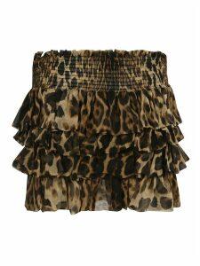 Saint Laurent Layered High-rise Skirt