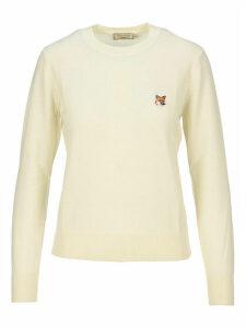 Maison Kitsune Logo Embroidered Jumper