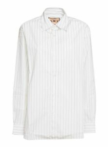 Plan C Striped Poplin Shirt