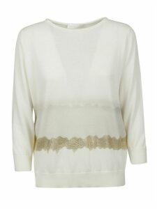 Fabiana Filippi Metallic Embellished Knit Sweatshirt
