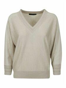Fabiana Filippi V-neck Ribbed Sweater
