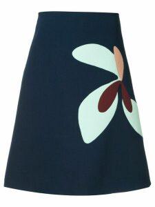 Delpozo floral print a-line skirt - Blue