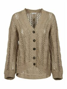 Brunello Cucinelli Rib Perforated Cardigan