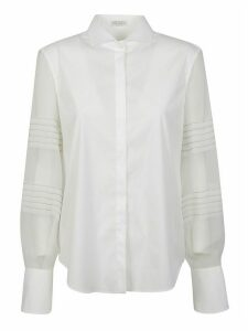 Brunello Cucinelli Lace-sleeved Shirt