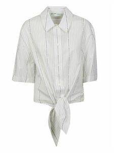 Off-White Popeline Baseball Knot Shirt