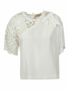 N.21 Perforated Floral Top